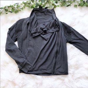 Lululemon Sway Jacket Gray Asymmetrical Fit